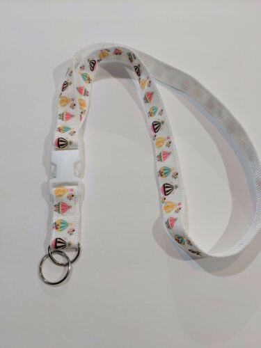 Details about  /Hot Air Balloon Removable Keychain Lanyard