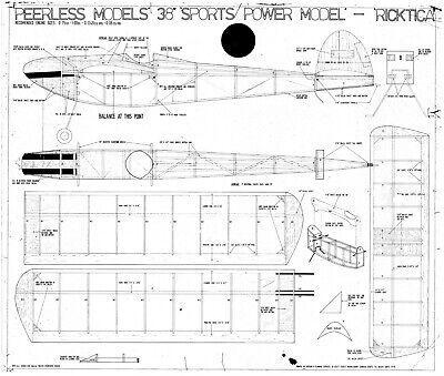"""Acquista A Buon Mercato Peerless Ricktika Modello Di Volo Libero Piano 38"""" Span-mostra Il Titolo Originale"""
