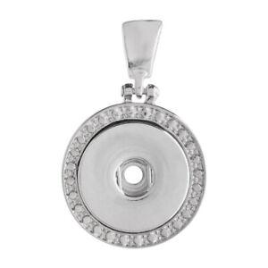 Fits Ginger Snap GINGER SNAPS HEART PENDANT Necklace Magnolia Vine 18mm Button