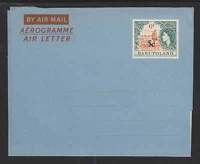 Basutoland (until 1966) Basutoland H&g Fg8 Mint 1961 5c On 6p Qeii Aerogramme Sophisticated Technologies British Colonies & Territories