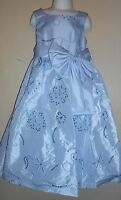 Bonnie Jean Girls Embellished Tea Length Special Occasion Dress Blue Six (6)