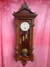 schöne,alte Pendeluhr__Wiener Regulator__mit Pendel und 2 Gewichten__130cm