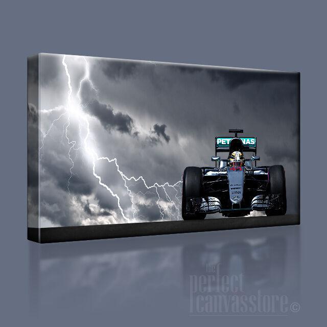 Lewis hamilton mercedes F1 F1 mercedes storm série toile art imprimé (mis à niveau pour 120x56cm) 280b40