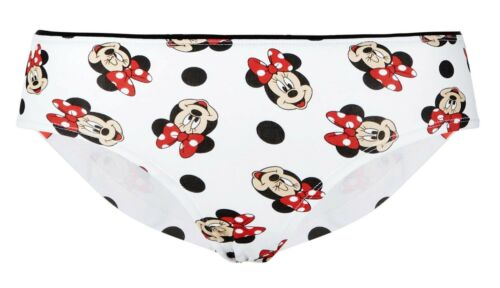 Femmes Disney Minnie Mouse Court Blanc Briefs Culotte Large 14-16