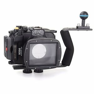 Meikon-40m-Underwater-Diving-Camera-Housing-case-for-Sony-HX90-Diving-handle