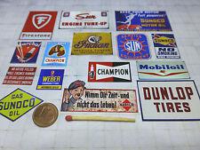 MODELL Sponsorenschilder 1:24/1:18, für Diorama - Slotbahn -LGB-Garage-Werkstatt