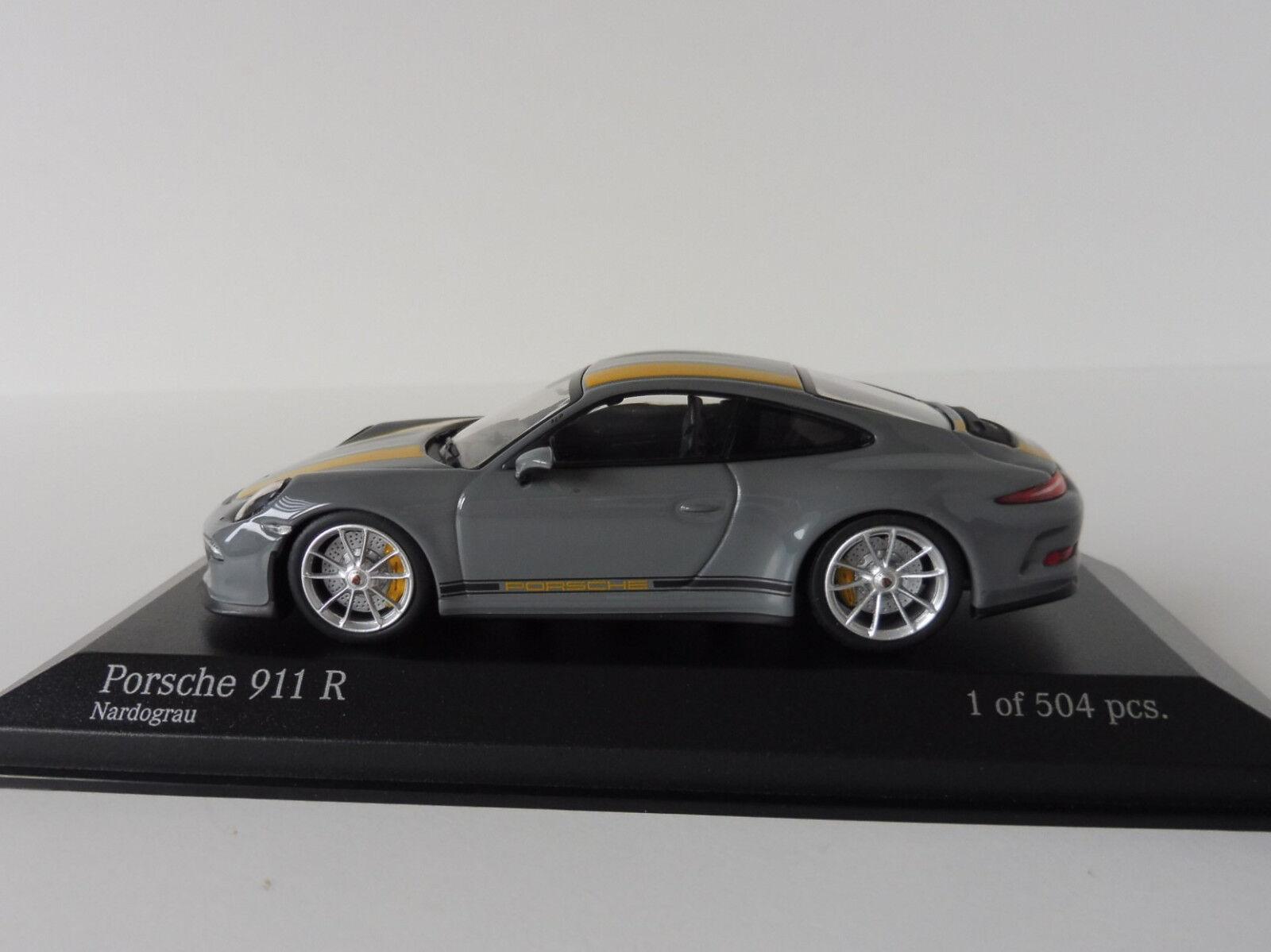 Porsche 911 R 2016 2016 2016 1 43 Minichamps 410066232 991 NARDOGREY YELLOW 504pcs. 7679a1