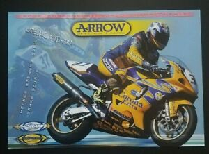 Vintage Poster Katsuaki Fujiwara 2002 Corona Alstare Suzuki GSX-R600 Motorcycle