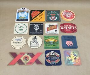 Lot-of-15-Vintage-Beer-Coasters-Collection-No-Duplicate