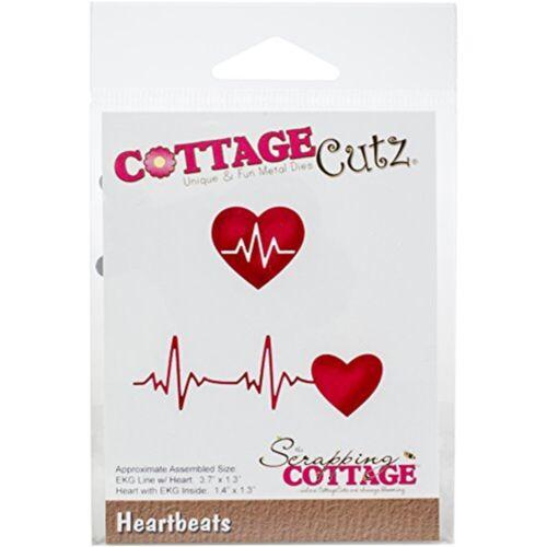 """CottageCutz Die-Heartbeats 1.3/"""" à 3.7/"""""""