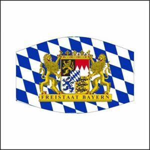 Bayern mit Löwen Wappen Maske Mundschutz Mund-,Nasenschutz ...