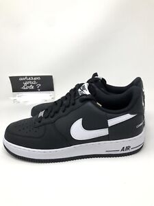 outlet store 2e907 87f67 Details about Nike Supreme CDG Comme Des Garcons Air Force 1 Low Black size  8.5 New AR7623-001