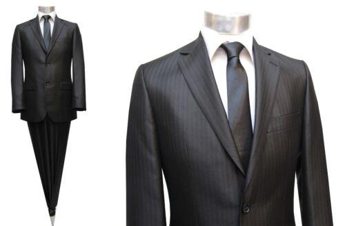 Rayas slim fit traje talla 48 negro