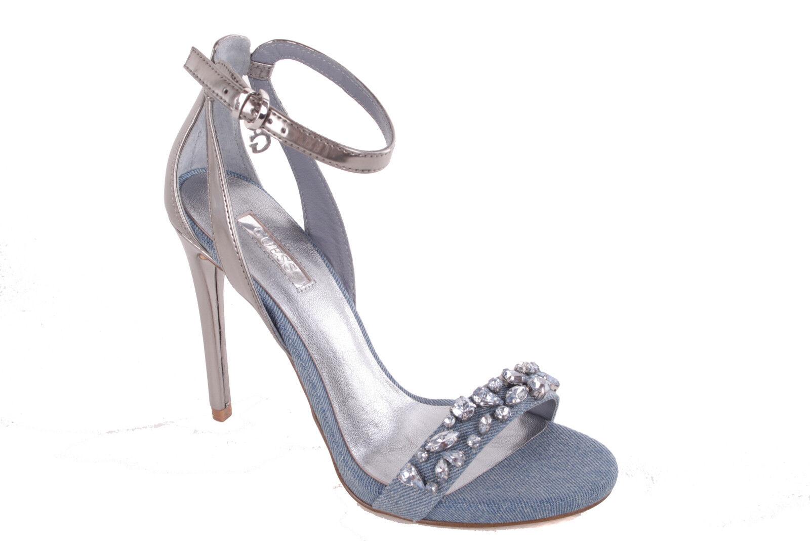 GUESS Riemchensandalen Damen Pumps Highheels Stilettos Riemchensandalen GUESS Jeansblau #614 364a01
