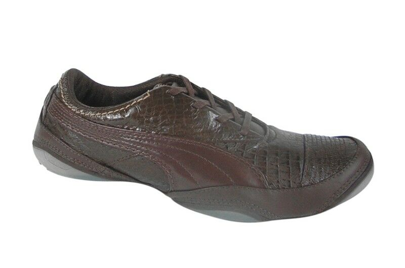 Puma usan croc chocolate marrón Almond - Pale oro cortos 183416 01 nuevo
