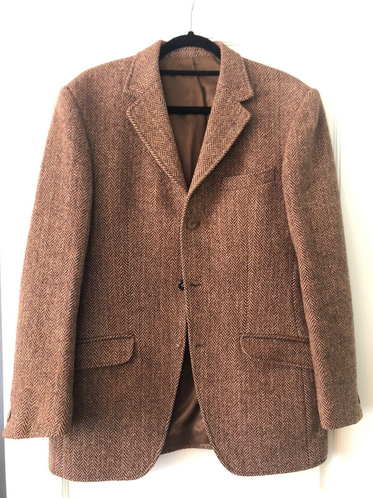 1980s HARRIS TWEED Sport Coat 80s Vintage Harris Tweed Jacket 100/% Virgin Scottish Wool Mens Harris Tweed Blazer Size 42R Large Lrg VTG