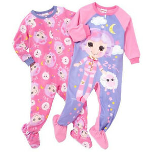 Details about lalaloopsy 2 pack footed pajama s jammies feetie pj s