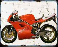 DUCATI 916Sps 1 A4 Foto Impresión moto antigua añejada De
