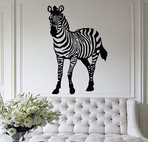 Details about Zebra Wall Decal African Safari Animals Sticker Kids Nursery  Bedroom Decor MN994