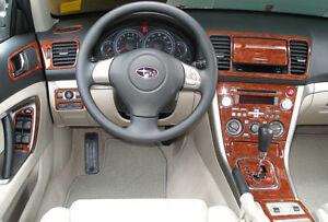 Interior Wood Dash Trim Kit Set For Subaru Legacy Outback 05 2006