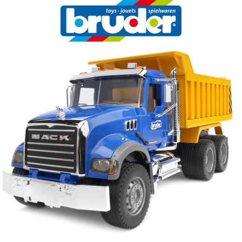 BRUDER LARGE 1:16 MACK GRANITE TIP DUMP TRUCK CONSTRUCTION 2815 MADE IN GERMANY