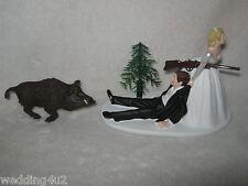Wedding Party Reception Wild Boar Hog Redneck Hunter Hunting Cake Topper