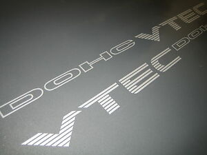 x2-Honda-Civic-DOHC-VTEC-Decals-Stickers-MB6-FREE-P-amp-P