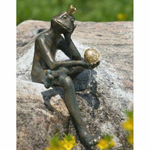 Rottenecker Froschkönig Borris 35 cm Bronze Wasserspiel Wasserspeier Bronzefigur
