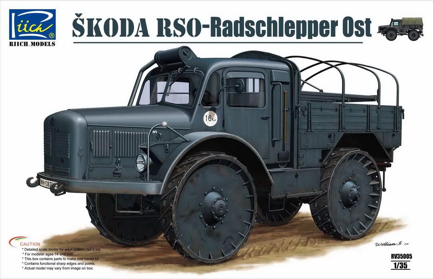Tracteur lourd Allemand 4x4 SKODA RSO - KIT RIICH MODELS 1 35 N° 35005