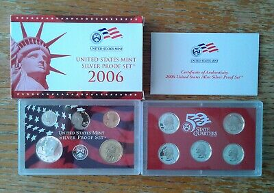 2006 S U.S Mint 10-coin Clad Proof Set OGP box /& COA Proof