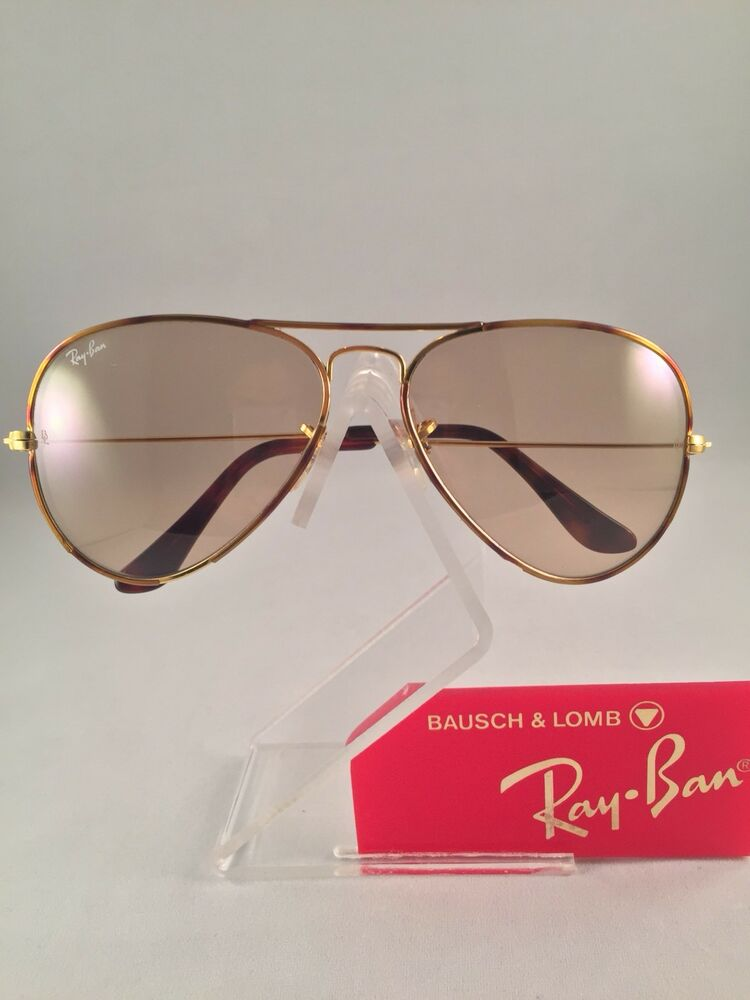 Vintage Ray Ban Bausch and Lomb Tortuga Photo Brown Changeable Sunglasses 58 mm