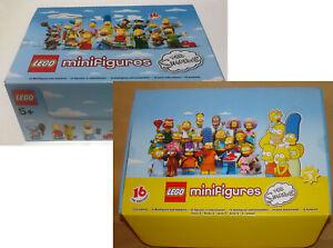 Lego-Minifigires-Serie-Simpson-1-amp-2-Figure-Originali-Comlete-di-Depliant