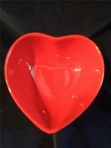 Valentine's Day Graces Pantry Heart Shaped Red W/ Polka Dots Bowl CANDY DISH NEW