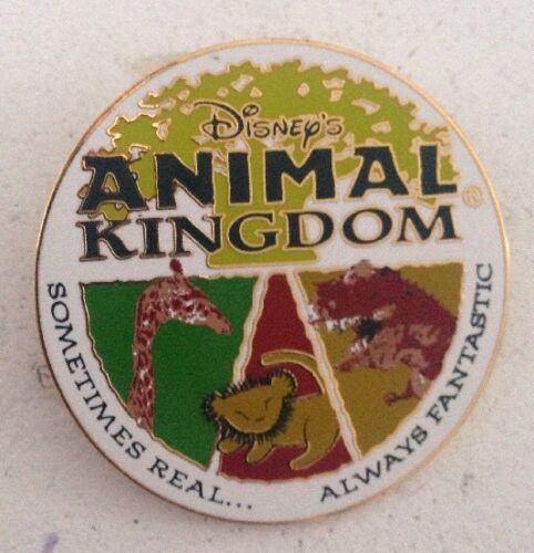 2001 Disney Animal Kingdom Sometimes Real Always Fantastic Pin Giraffe Lion WDW
