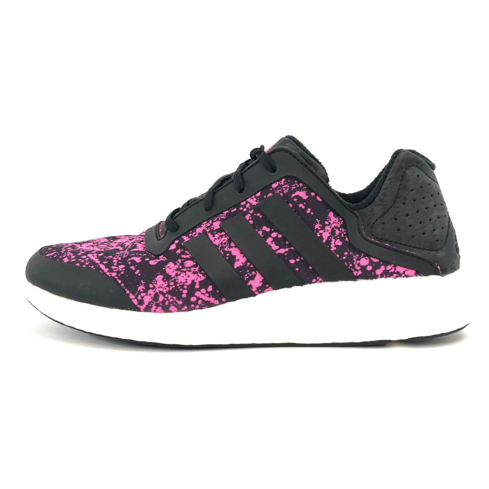Adidas Women's Pure Boost Gym Core Black & Pink Gym Boost Running Shoes M21406 22dc26