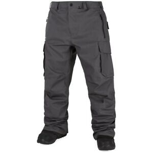 2018-NWT-MENS-VOLCOM-PROJECT-SNOW-PANTS-vintage-black-grey-relaxed-fit