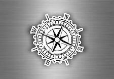Autocollant sticker voiture moto boussole compass vintage macbook r1 nautique