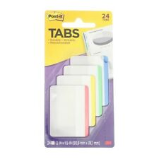 2 Pack Post It Durable File Tabs 4 Color 2in X 15in 24 Ct
