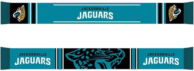 Forever Collectibles Jacksonville Jaguars Bar Scarf Colour Rush