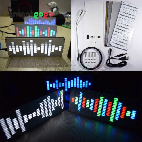 DIY Big Size 225 Segment LED Digital Music Spectrum Sound Waves KitBSG