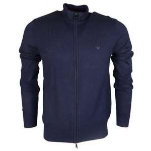 Emporio-Armani-Funnel-Neck-Zip-Up-Navy-Knitwear-Cardigan