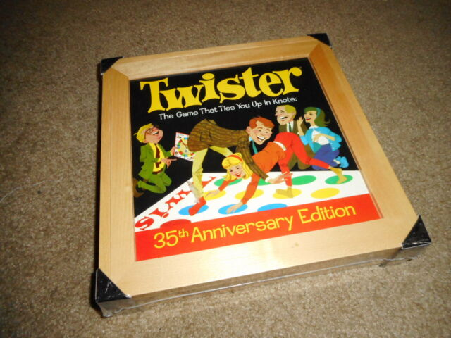 Nrfb Milton Bradley 35th Anniversary Edition Deluxe Twister Game Wooden Box S15