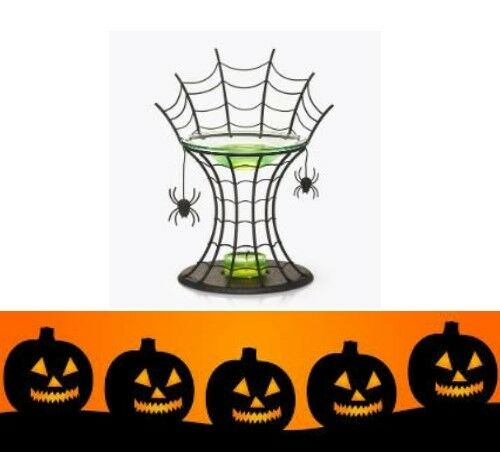 New Halloween with PartyLite Spider Web Aroma Melts Warmer P90456 COMBINED POST