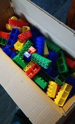 100 Bausteine Steckbausteine Bauklötze, GroßEr Ausverkauf