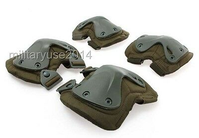 TACTICAL AIRSOFT SPORTS MILITARY X SHAPE KNEE /& ELBOW PROTECTIVE PADS SET CP