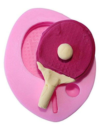 Gum Paste Table Tennis Ping Pong Silicone Mold for Fondant Chocolate Crafts