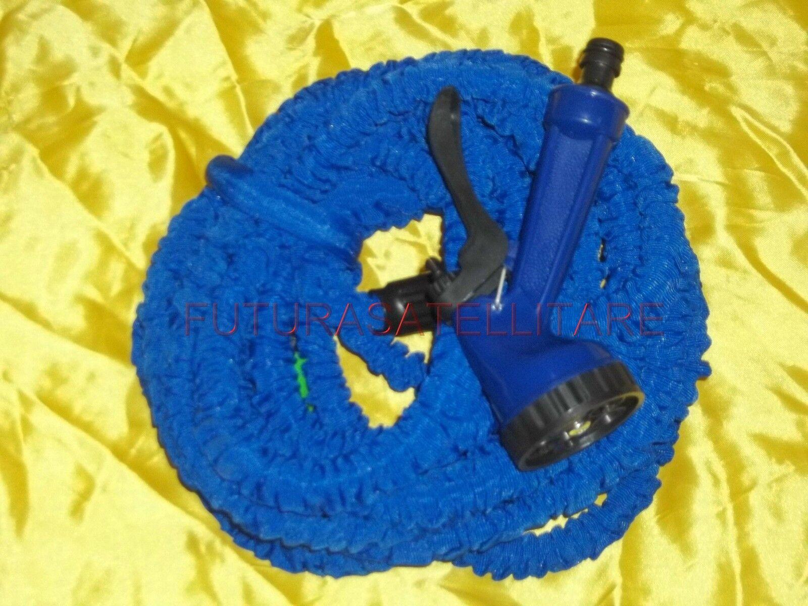 a buon mercato TUBO ESTENSIBILE FLESSIBILE GIARDINO PISTOLA GIARDINAGGIO CASA 22,5 MT MT MT BLU  autorizzazione ufficiale
