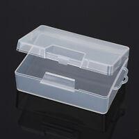 Kunststoff Aufbewahrungs Boxen mit Deckel Transparent Schmuck Kasten Plastikbox