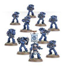 Warhammer 40000 48-07 Space Marine Tactical Squad 10 x Mini Figures Kit T48Post