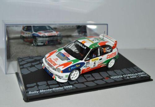 TOYOTA COROLLA WRC  RALLYE MONTE CARLO 1998 SAINZ  1//43 IXO ALTAYA